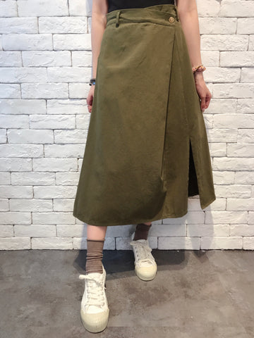 2010076 JF Wrapped A-line Skirt - GREEN