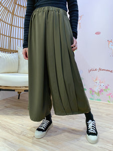 2101066 PO Pleated Wide Pants - Green