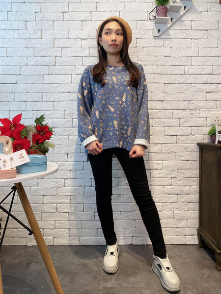 1912049 MI rabbits pattern knit top