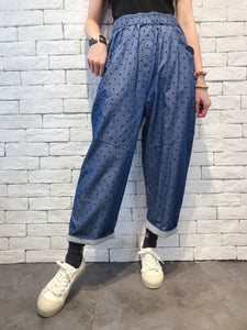 2009088 KR Ruffle Pocket Denim Pants - DOTS