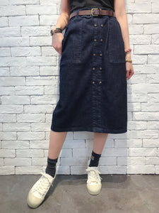 2009090 JF Denim Buttons Skirt