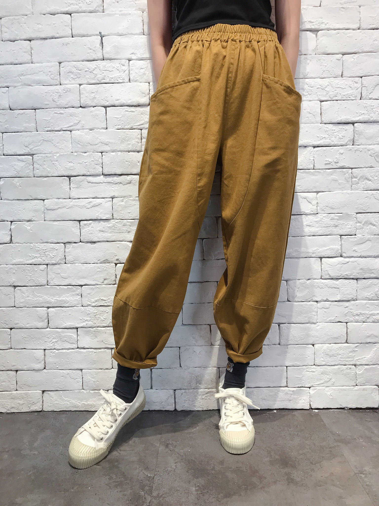 2009085 JP 3D-Cut Pants - MUSTARD