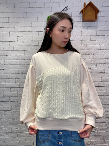 1910088 IF lace-up knit top