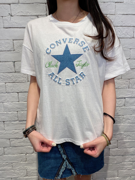 2003037 Cons denim star tee - WHITE