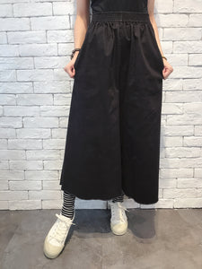 2008075 VI cotton wide pants - BLACK