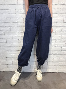 2008081 JP pegged pants - NAVY
