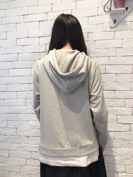 2009129 JP Mushroom Bottom Hooded Pullover - GREY