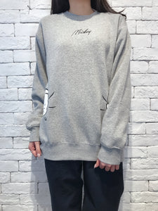 2009118 DIS Mickey & Minnie Back Print Pullover - GREY