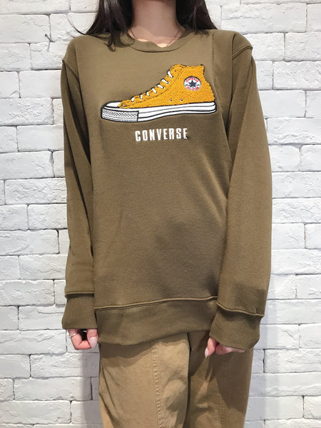 2009128 CONS bi-colour shoes pullover - GREEN