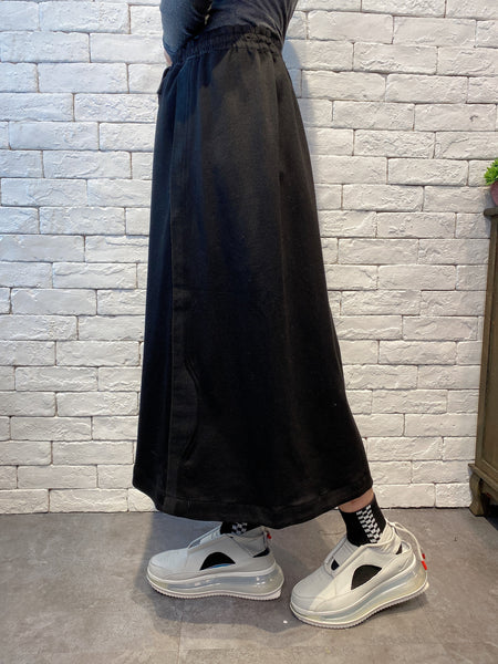 1912089 JP mixed fabric skirt