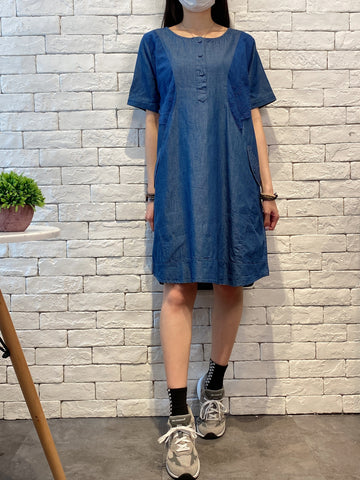 2004141 KR embroidered cotton OP - NAVY