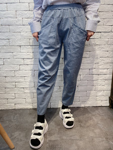 2002003 JF colour pegged pants - GREY