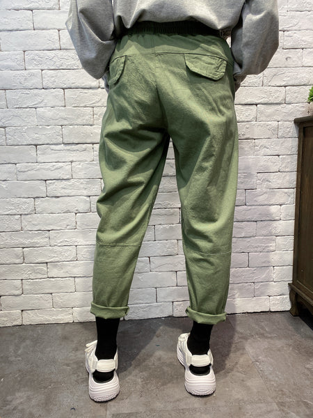 2002003 JF colour pegged pants - GREEN
