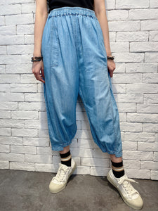 2007017 JP washed denim casual pants