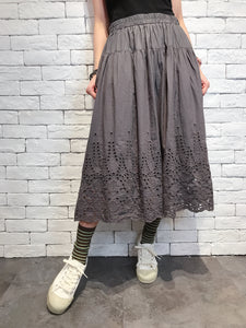2008007 JF bottom lace skirt - CHARCOAL