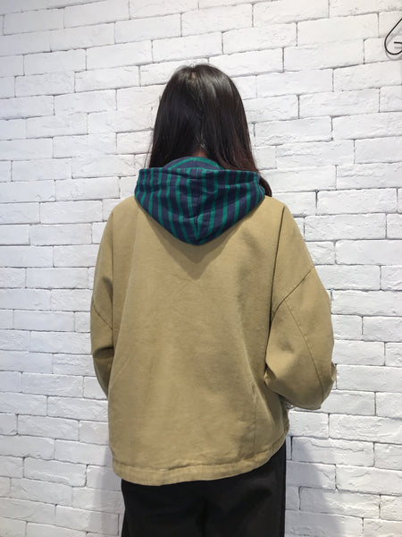 2010010 JP Border Hooded Jacket - GREEN