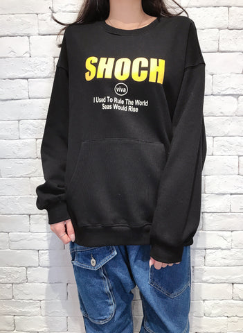 2010023 JF Words - SHOCH Pullover - BLACK