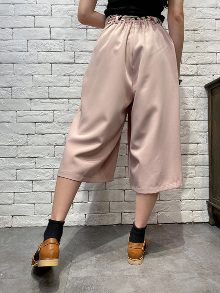 2005001 DD colourful belt buttons pants - PINK