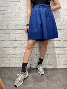 2006023 JP colour pleated shorts - NAVY