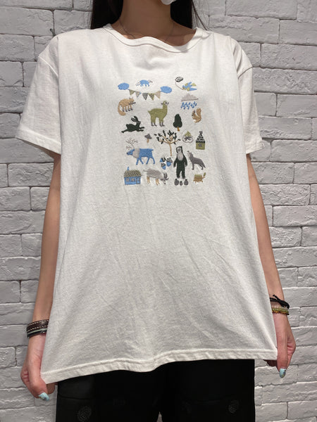 2006025 JP animals tee - WHITE