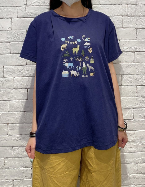 2006025 JP animals tee - NAVY
