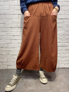 2001020 JF linen pockets pants - BROWN