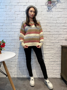 1912023 JF multi colour border knit top