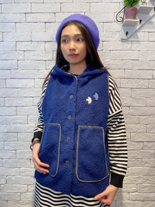 1912016 JP little birds fleece vest