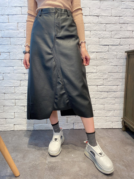 1912021 VI synthetic leather skirt