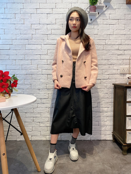 1912022 DD double breasted knit coat