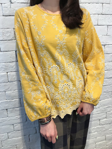 2008020 JF embroidery top - YELLOW