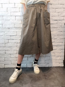 2007038 JF double pockets wide pants - GREEN