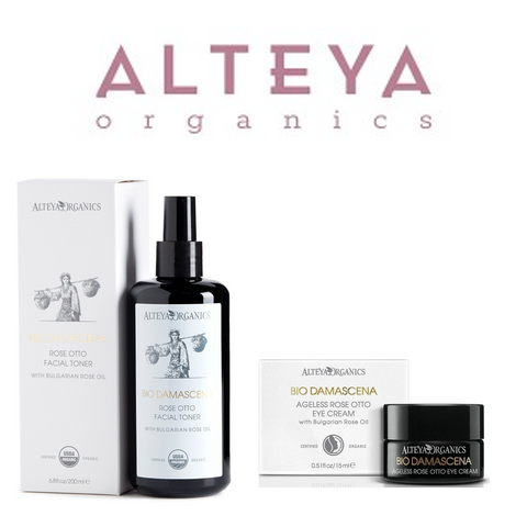 ALSET07 Alteya Bio Damascena Organic Rose Otto Facial Toner & Eye Cream Set 有機奧圖玫瑰爽膚水及眼霜套裝