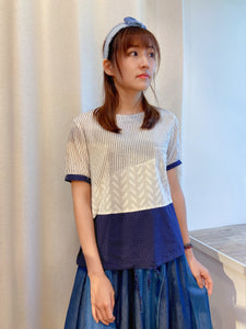 2104073 JP Mixed Pattern Patchwork Top