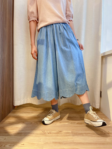 2105069 JP Denim Wave Hem  Pants - Blue