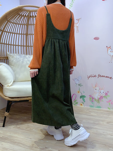 2011139 JF Fine Corduroy Overall - GREEN