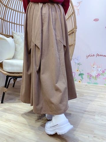 2011185 JP Corduroy Pocket Skirt - Beige