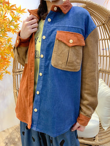 2011186 JP Tri-Colour Corduroy Outer - Orange