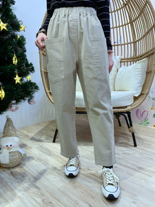 2012127 KR White Line Wide Pants - Beige