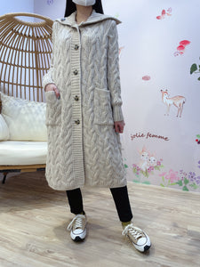 2101094 JF Cable Knit Outer - Beige