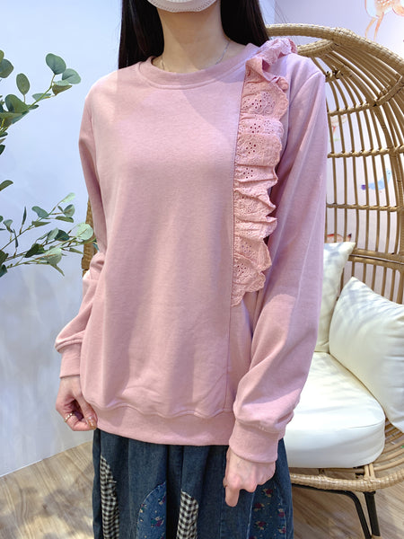 2101012 JF Lace Pullover - Pink