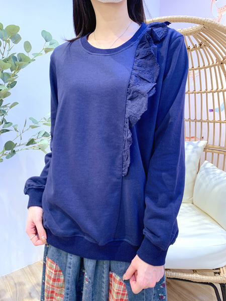 2101012 JF Lace Pullover - Navy
