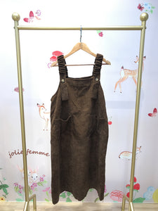 2010086 JF  Strapped Corduroy OP  - Brown