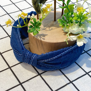 MLHA038 ML Denim Knot Stitches Headband