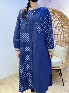 2101047 JP Dots Shirt OP - Navy