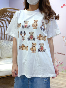 2102026 KR Sports Bear Tee - White