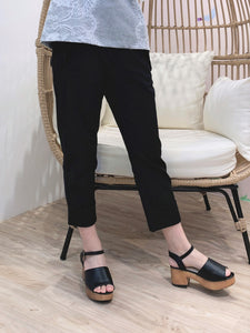 2104001 RR Ruffle Pockets Black Pants