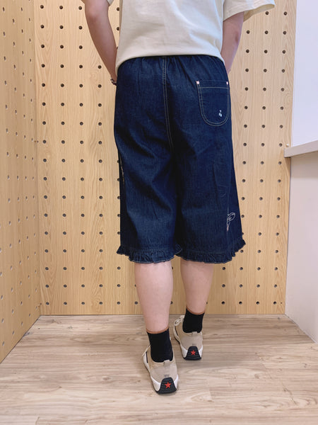 2104043 DR Embroidery rabbits pants -Navy