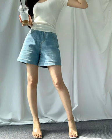 2104096 HL (6071) Denim Washed Shorts
