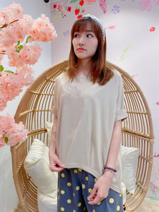 2104108 EC Roll Sleeves Top - Beige